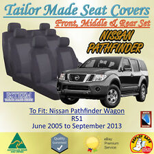 Custom Made Seat Covers 3 Rows for Nissan Pathfinder R51 from 06/2005 to 09/2013