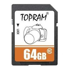 TOPRAM 64GB SD 64G SDXC class10 C10 SD 2.0/3.0 secure digital memory card bulk