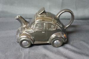 Vintage Carlton Ware Black VW  Volkswagen Beetle Novelty Tea Pot.