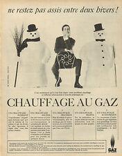 Publicité 1965  GAZ DE FRANCE  chauffage au gaz