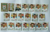 Panini WM 2018 Iran Team Complete Set World Cup WC 18