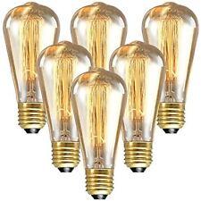 Longyee Vintage Ampoule À Culot Vis Edison E27 40 W compatible avec variateur D'