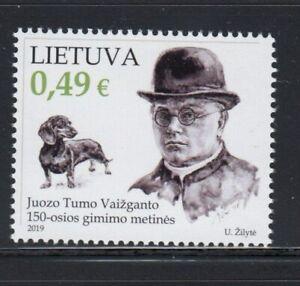 LITHUANIA Juozas Tumas-Vaižgantas, Activist Priest MNH stamp