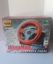 Logitech wingman formula force red racing wheel and pedals