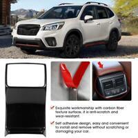 For Subaru Forester SK 2019 Car Carbon Fiber Center Control Cover Trim 2Set