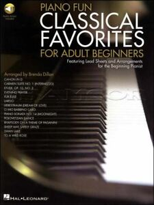 Piano Fun Classical Favorites for Adult Beginners Book/Audio SAME DAY DISPATCH