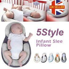 Baby Infant Newborn Pillow Cushion Prevent Flat Head Sleep Nest Pod Anti Roll UK