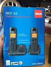 Rca 2162-2Bkga Element Series Dect 6.0 Cordless Phone with Caller Id & Digita.
