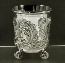 Lincoln & Foss Silver Beaker c1855 Hand Decorated