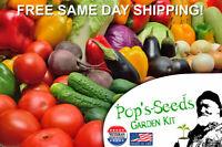 Vegetable Seed Kit 12 Variety Heirloom Vegetable Garden Seeds Free Ship! Non-GMO