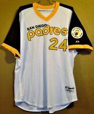 SAN DIEGO PADRES CAMERON MAYBIN 1978 ERA HOME WHITE PULLOVER AUTHENTIC JERSEY
