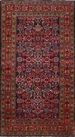 Vintage Geometric Tribal Hamedan Hand-knotted Area Rug Wool Oriental 4x7 Carpet