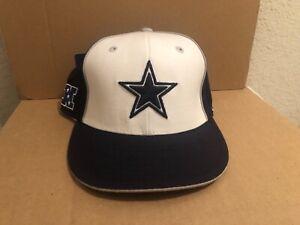 NEW w/ Tags DALLAS Cowboy NFL 7 1/4 Fitted Reebok Hat 100% wool