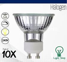10 x  Heathfield 50w GU10 Halogen Wide Flood Light Bulbs 240v