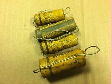4 Nos Vintage Aerovox Wax Capacitors .1 .25 .5 uf 200v 400v Wax Guitar Amp Caps