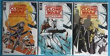 Star Wars Adventures Clone Wars Battle Tales #1 2 & 3 Idw Disney 1st Prints 2020
