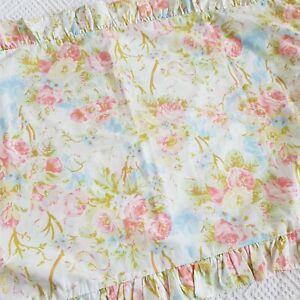 Vintage Retro Horrockses pink blue flower Pillowcase 60s 70s 80s VW Camper