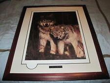 "Jim Brandenburg ""Watchers of the Woods"" Signed Matted & Framed Art Print 29x36"""