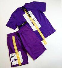 Hudson Outerwear Men's 2p set 100%AUTHENTIC shorts and T-shirt size Large purple