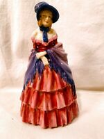 "Vintage Royal Doulton Figurine A Victorian Lady Early Mark HN 728 8"" Tall C 1942"