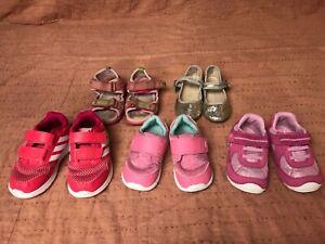 Lot of 5 pairs toddler girl shoes size 7: Umi, See Kai Run, Stride Rite, etc.