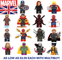 Marvel Avengers DC Custom Lego Minifigures Ironman Thor Mini Figures FAST POST
