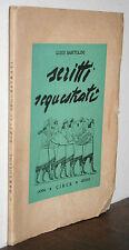 Luigi Bartolini scritti sequestrati Edizioni Circe 1945