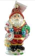 Christopher Radko RED HOT SANTA Glass Ornament Fireman Firefighter Christmas