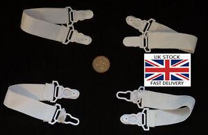 1,2,4PCS Clipon Bedsheet Fastener Strap. Mattress straps-UK STOCK