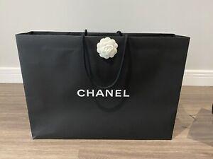 Chanel Genuine Black Gift Bag (Large)