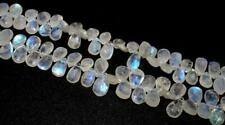 Natural Rainbow Moonstone Faceted Pear Briolettes -9x7-13x8mm - Moonstone Beads