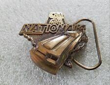 Vintage Chief Auto Parts Nationals Racing Car Belt Buckle 3D Spectrum Design