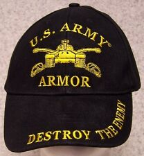 Embroidered Baseball Cap Military Army Armor NEW 1 hat size fits all