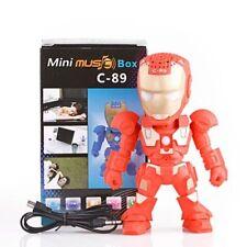 FM TF Radio c-89 Wireless Bluetooth Speaker Robot Iron Man Stereo Mini Portable