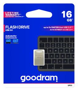 16GB USB Stick klein USB 3.0 Highspeed Speicherstick 16 GB silber Mini Flash