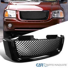 For 02-07 GMC Envoy Mesh Black ABS Front Hood Bumper Grill Grille Replacement