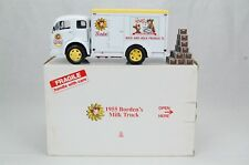 "Danbury Mint 1955 Borden's Milk Truck with Crates 9.5"" Length Diecast with Box"