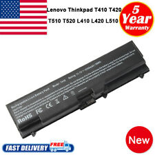 6 Cell Battery for Lenovo Thinkpad T410 T420 T520 W510 W520 SL410 SL510 Notebook