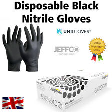 Black Nitrile Gloves Unigloves Medium Extra Large Disposable Latex Vinyl Free