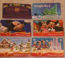 Disney Gift Card Lot 6 Assorted Different Christmas,Taste of Magic 4U, NO VALUE