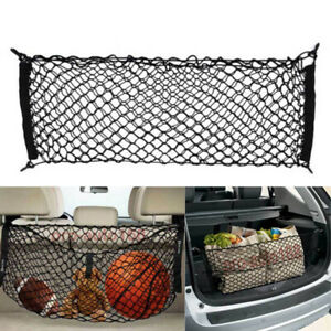 Car Accessories Rear Cargo Organizer Storage Elastic String Net Pocket Trunk SUV