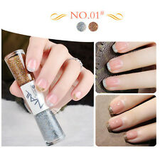 Dual-ended Liner Nail Polish Pen Silver Brown Liner Varnish Manicure #01 14ml
