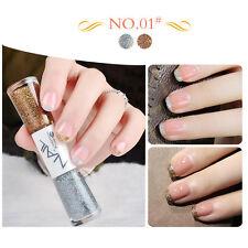 Dual-ended 14ml Liner Nail Polish Pen Silver Brown Liner Varnish Manicure #01