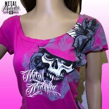 Metal Mulisha Ladies Night Visions Scoop Tee Size XS