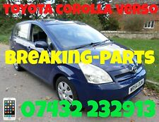 Toyota Corolla Verso BREAKING PARTS SPARES COMPLETE CAR DOORS DONNET BOOT