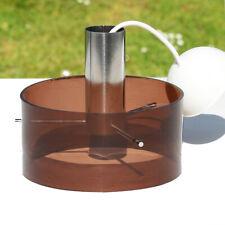 Lustre suspension avec abat-jour en plastique marron fumé et métal vintage