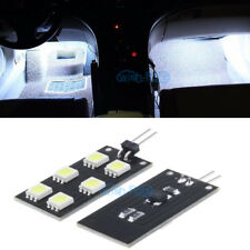 4Pcs Error Free F&R White Footwell Lights 6SMD LED For Audi A4 S4 B8 2008-2015
