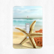 Starfish Light Switch Cover Plate Duplex Outlet Ocean Water Sand New