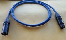 Mogami 2549 XLR-M (male) to XLR-F (female) Neutrik Gold Balanced Cable Blue 3ft