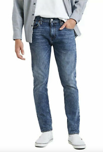 NWT Men's Levi's 512 Slim Taper Leg Blue Acid Wash Stretch Denim Jeans ALL SIZES